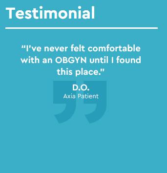 Axia patient testimonial