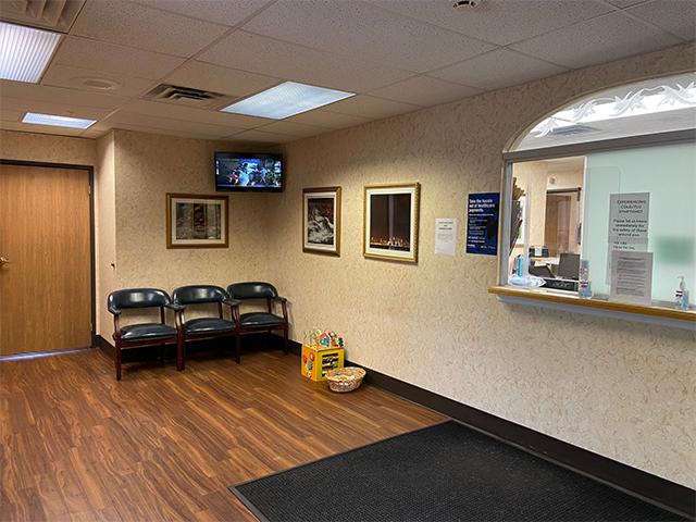 Contemporary Women's Care West Orange office waiting area