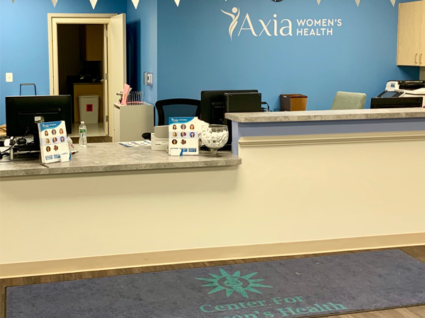 Center for Total Women's Health front desk - Axia Women's Health