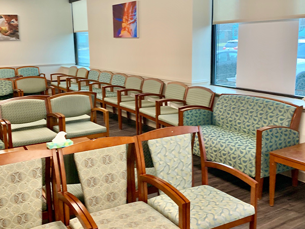 Center for Total Women's Health waiting area- Axia Women's Health