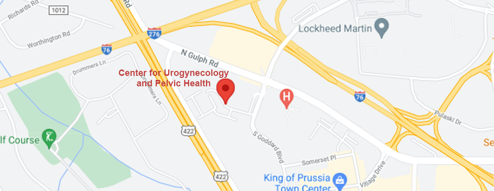 Center for Urogynecology and Pelvic Health map
