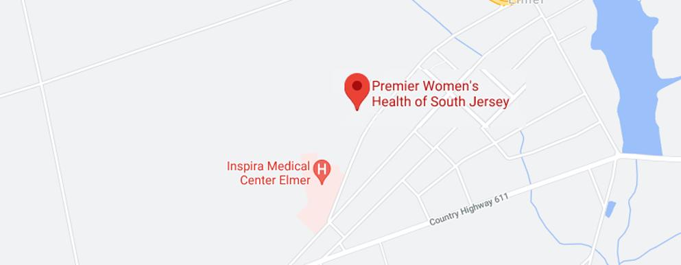 Premier Women's Health of South Jersey Elmer map - Axia Women's Health