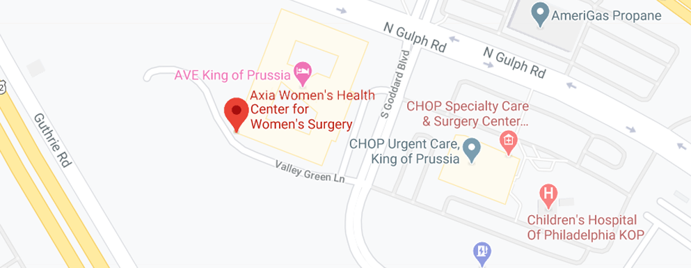 Axia Center for Women's Surgery Map