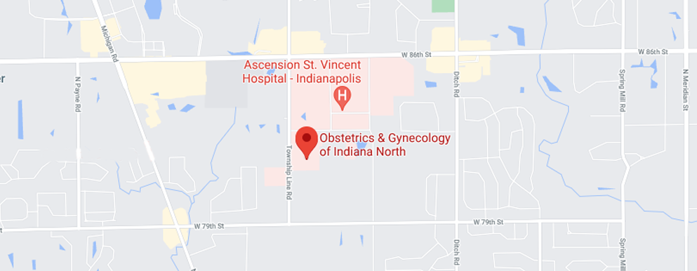 Obstetrics and Gynecology of IN North map - Axia Women's Health