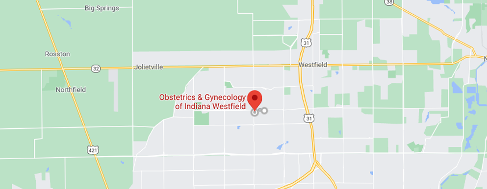 Obstetrics and Gynecology of IN Westfield map - Axia Women's Health