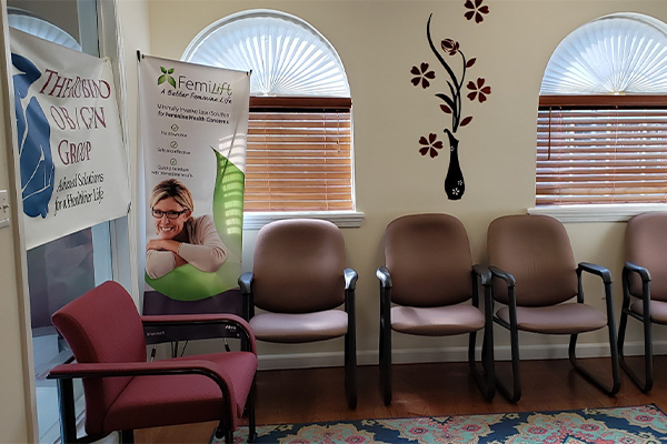 Rubino OB/GYN Group waiting area - Axia Women's Health