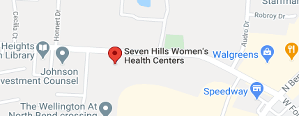 Seven Hills Women's Health Centers West Fork Road - Map - Axia Women's Health