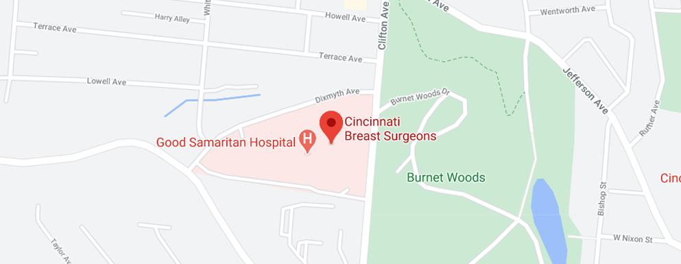 Cincinnati Breast Surgeons Clifton - Map - Axia Women's Health