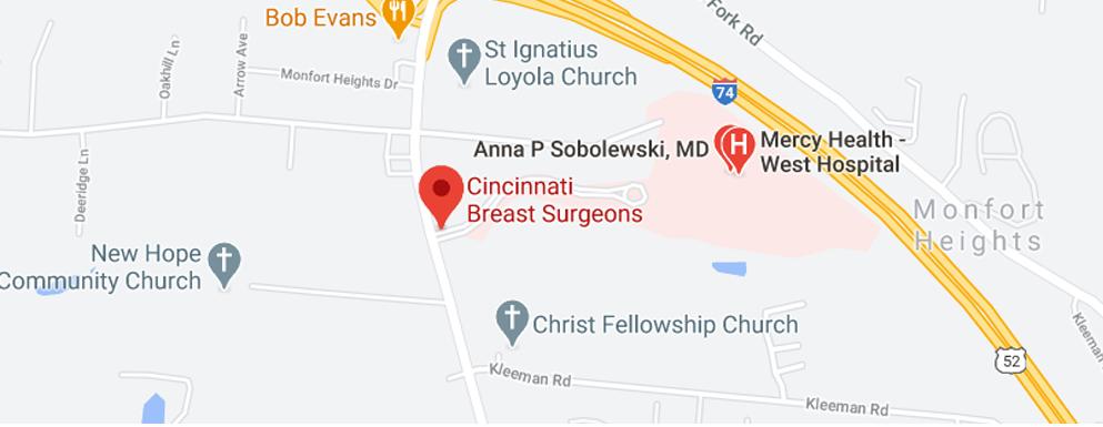 Cincinnati Breast Surgeons west side - Map - Axia Women's Health