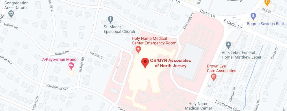 OBGYN of North Jersey - Teaneck Map