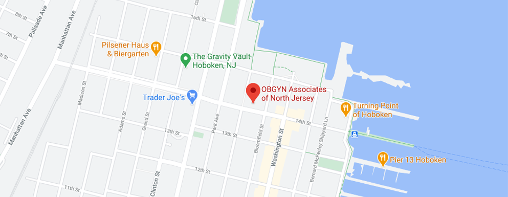 OBGYN of North Jersey - Hoboken Map
