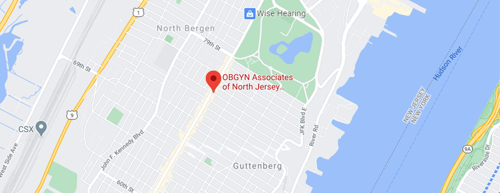 OBGYN of North Jersey - North Bergen Map