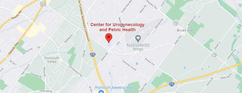 Center for Urogynecology and Pelvic Health Blue Bell map